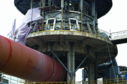 Rotary kiln working process