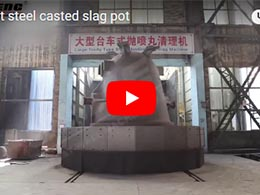 1-120t steel casted slag pot