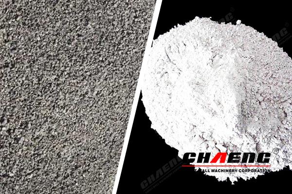 ore slag and ore powder