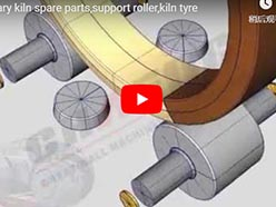 rotary kiln spare parts, support roller, kiln tyre