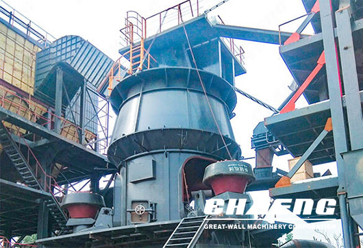 Slag grinding plant constructed by CHAENG
