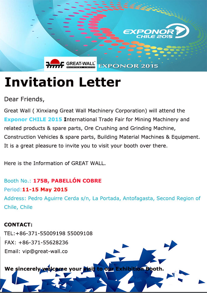 An invitation letter from greatwall for exponor 2015 exponor chile stopboris Choice Image
